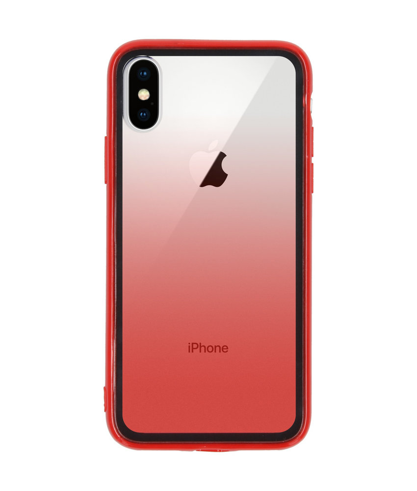 Gradient Backcover iPhone Xs / X - Rood