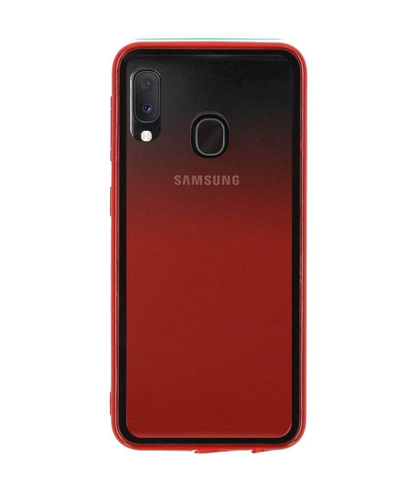 Gradient Backcover Samsung Galaxy A20e - Rood