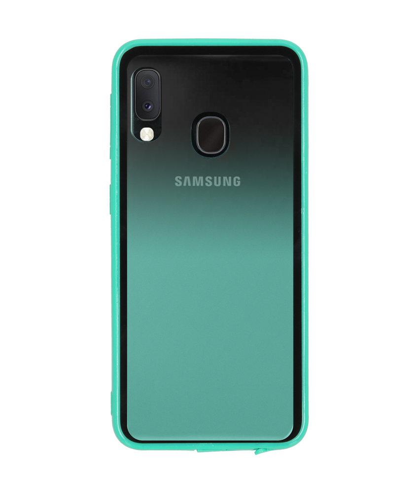 Gradient Backcover Samsung Galaxy A20e - Groen