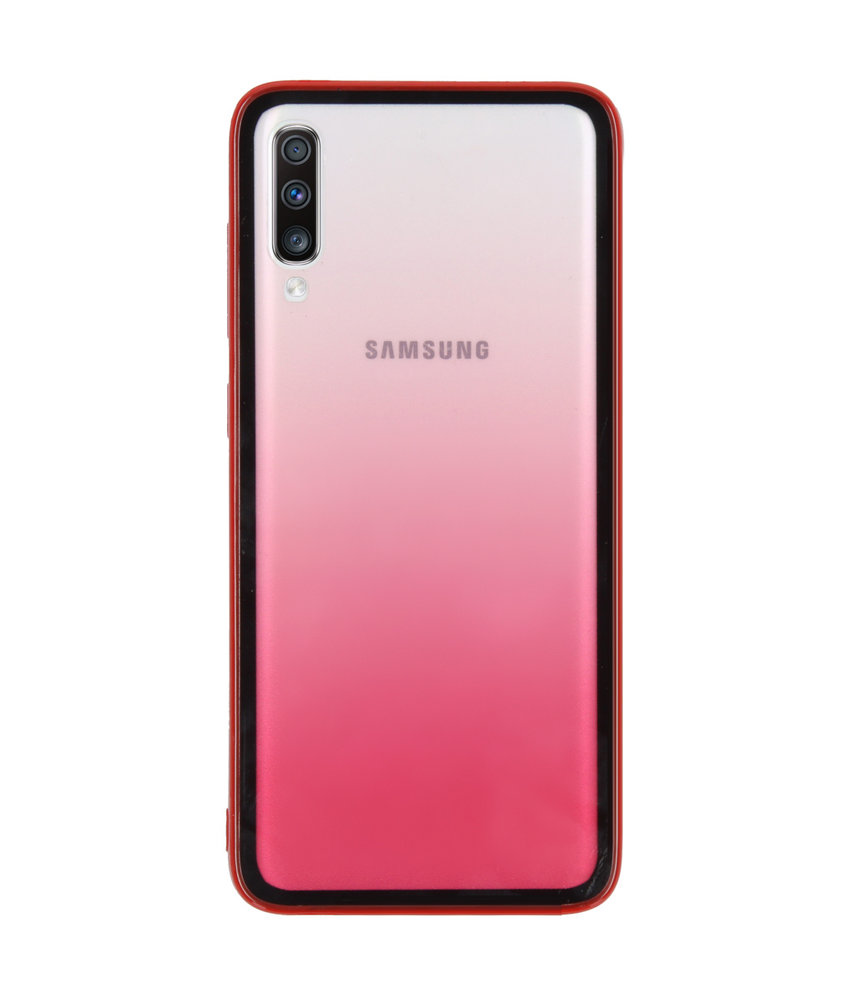 Gradient Backcover Samsung Galaxy A70 - Rood