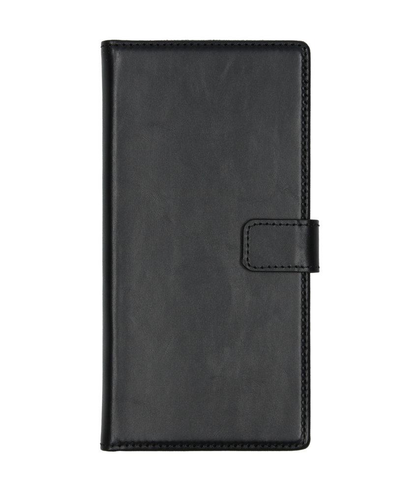 Selencia Echt Lederen Booktype Samsung Galaxy Note 10 Plus - Zwart