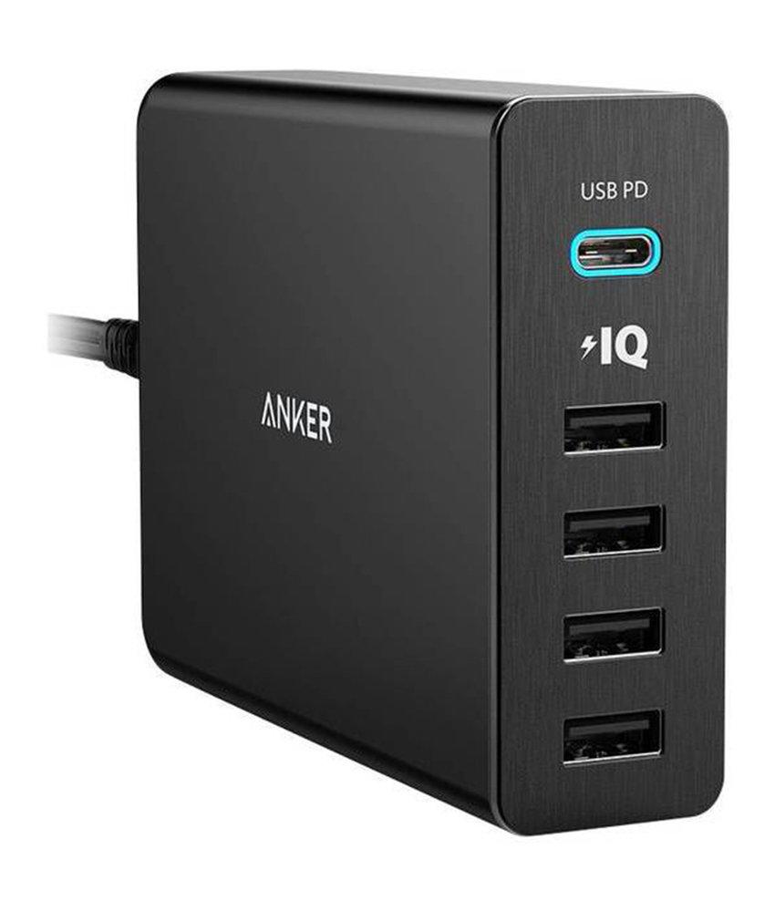 Anker PowerPort+ 5 Power Delivery - Zwart