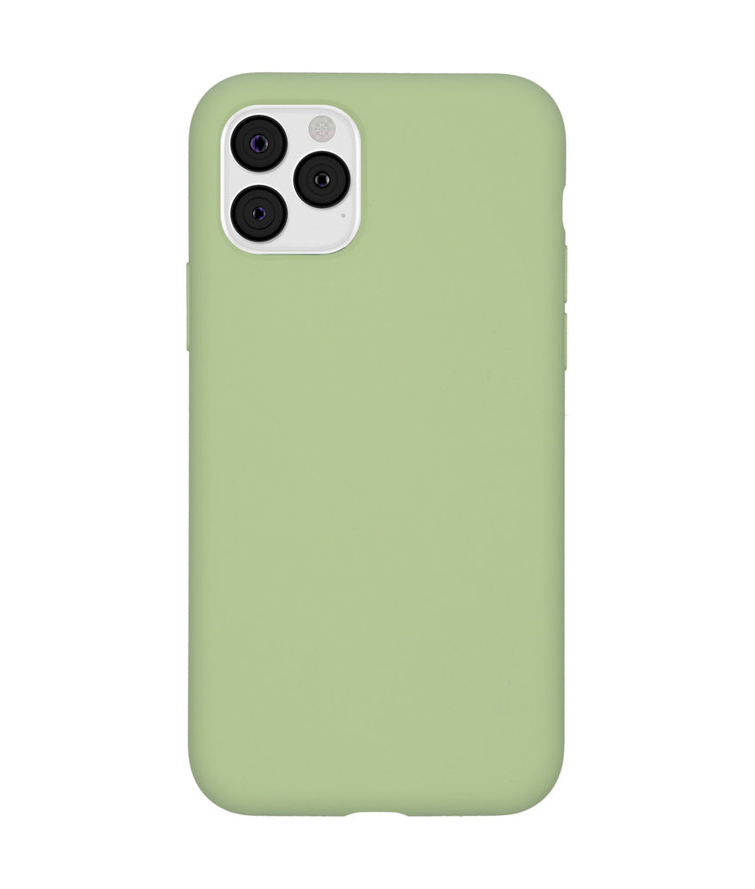 Accezz Liquid Silicone Backcover iPhone 11 Pro - Groen