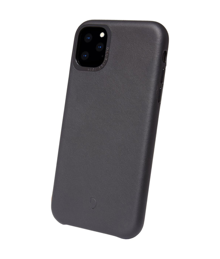 Decoded Leather Backcover iPhone 11 Pro Max - Zwart