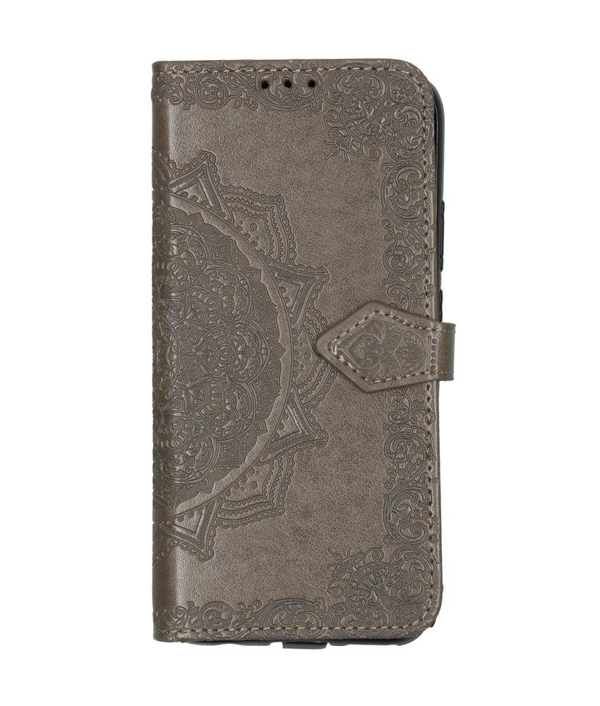 Mandala Booktype Huawei Mate 30 Lite - Grijs