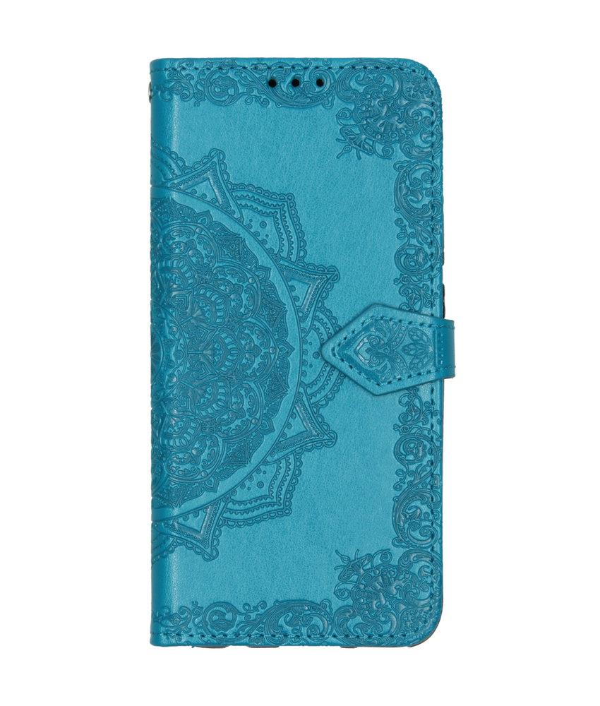 Mandala Booktype Huawei Mate 30 Lite - Turquoise