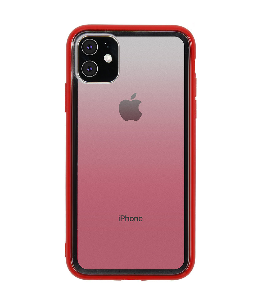 Gradient Backcover iPhone 11 - Rood