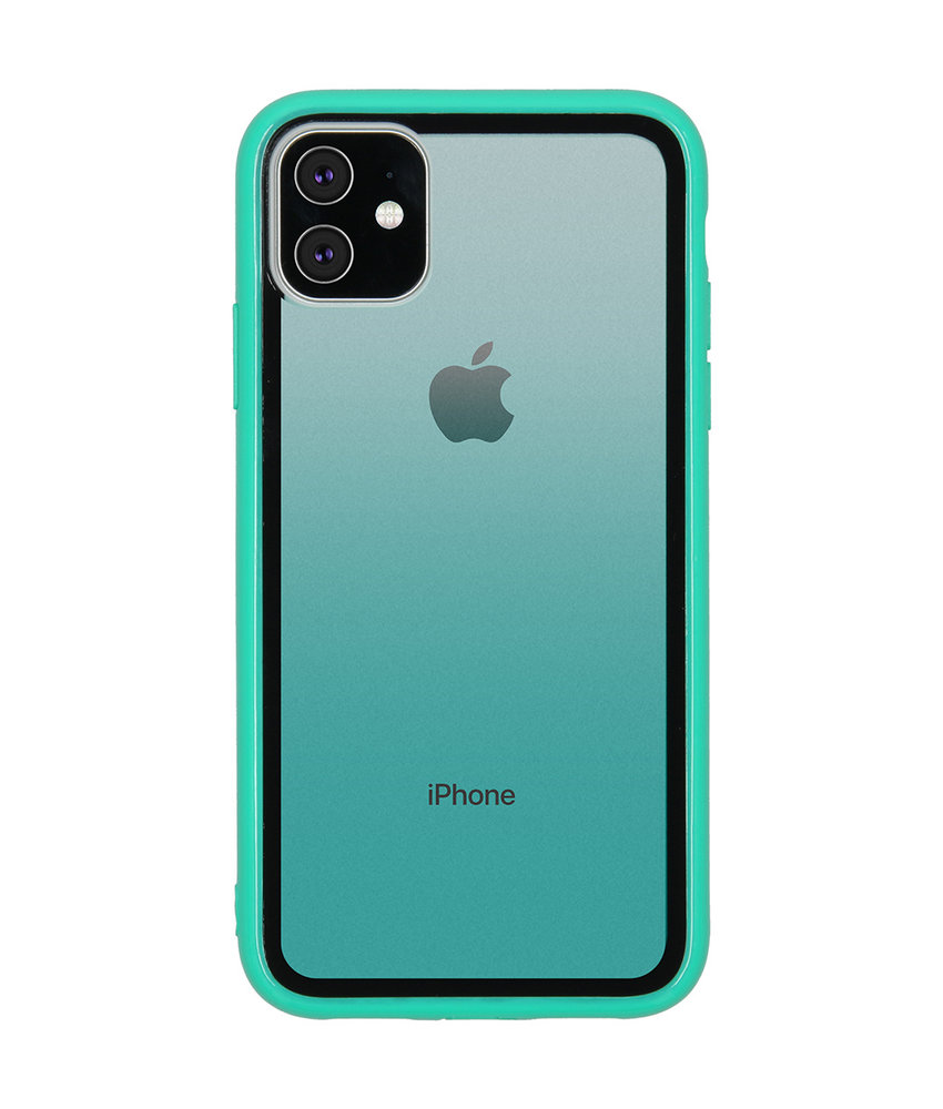 Gradient Backcover iPhone 11 - Groen