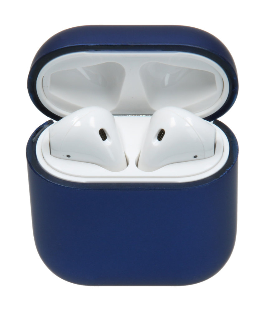 Hardcover Case AirPods - Mat Blauw