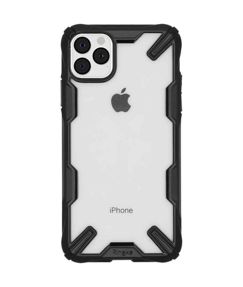 Ringke Fusion X Backcover iPhone 11 Pro Max - Zwart