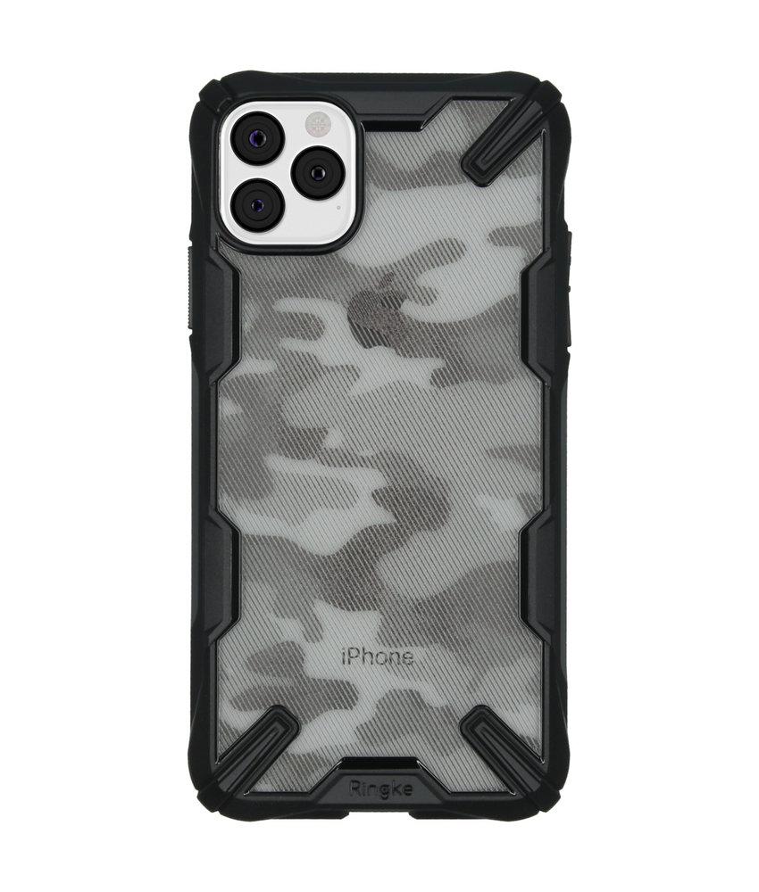 Ringke Fusion X Design Backcover iPhone 11 Pro Max - Camo Zwart