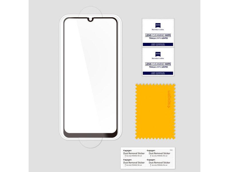 Spigen GLAStR Full Cover Screenprotector voor de Samsung Galaxy A40 - Zwart