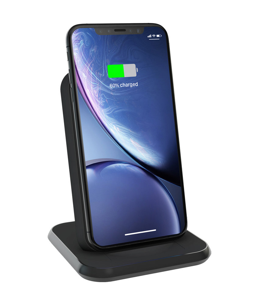 Zens Aluminium Stand Wireless Charger 10W - Zwart
