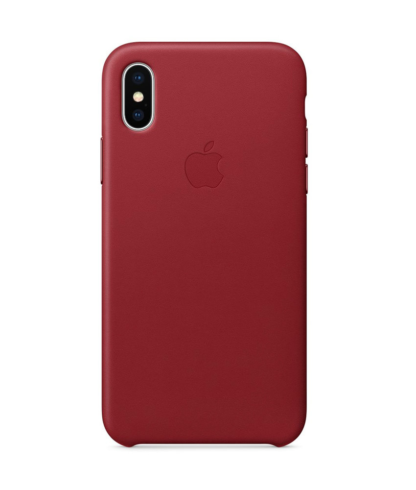 Apple Leather Backcover iPhone X - Red