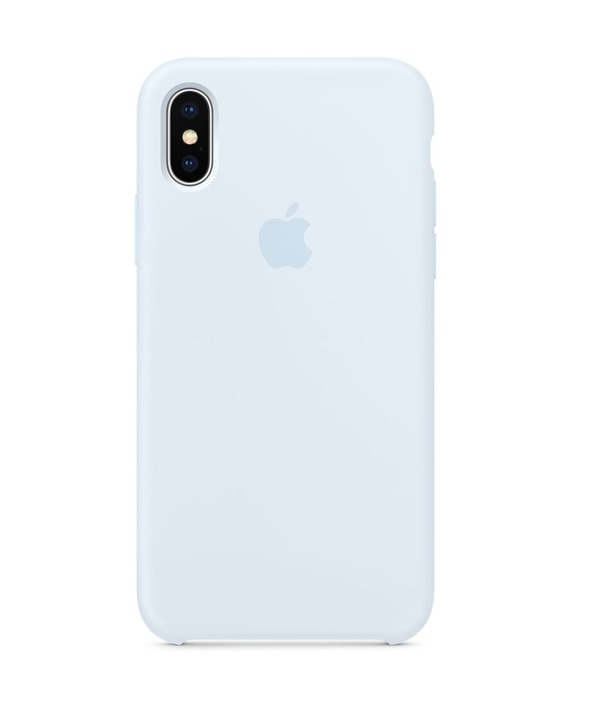 Apple Silicone Backcover iPhone X / Xs - Sky Blue