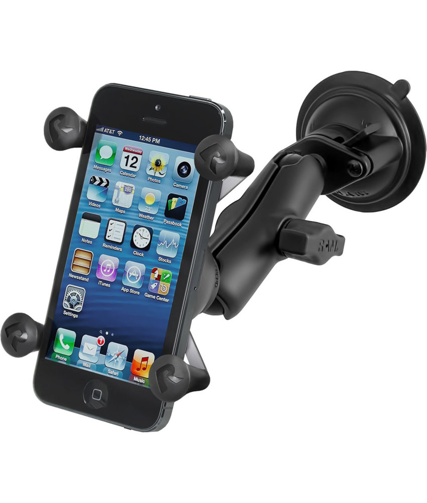 RAM Mounts X-Grip Telefoonhouder Auto met Twist-Lock Suction Cup