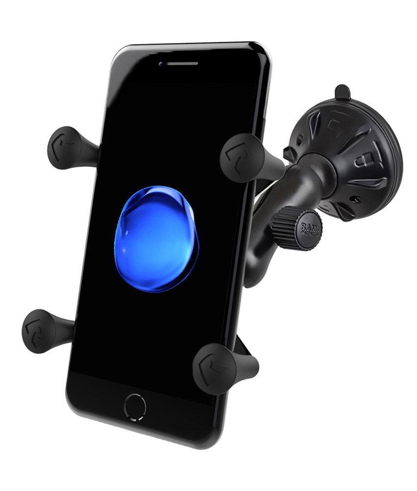 RAM Mounts X-Grip Telefoonhouder Auto met Twist-Lock Suction Base