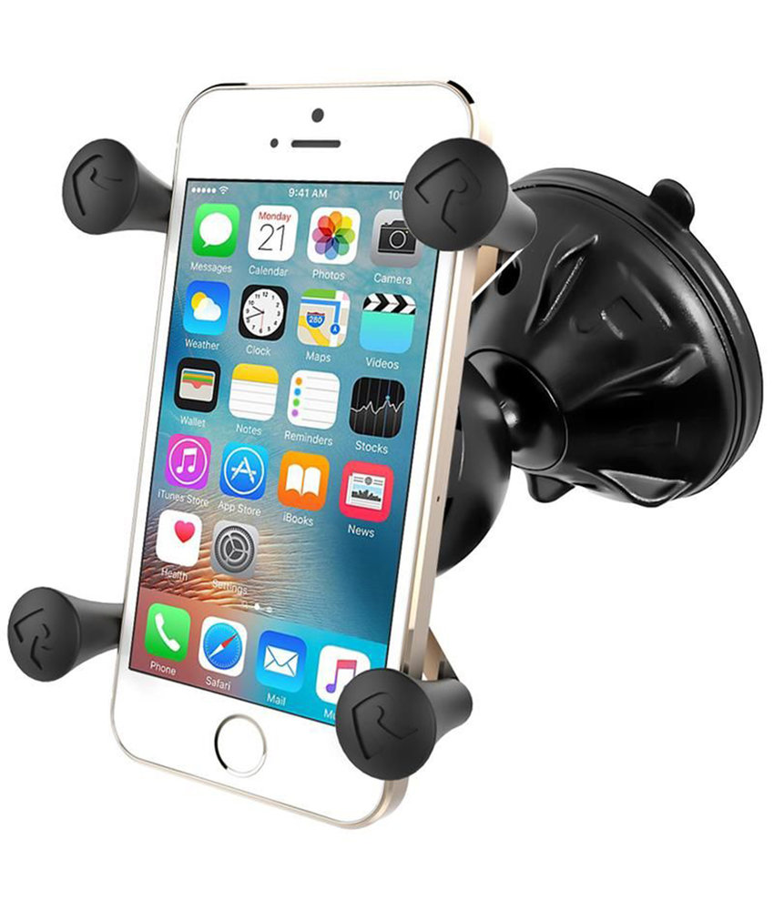 RAM Mounts X-Grip Telefoonhouder Auto met Mighty-Buddy Suction Cup