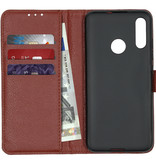 Basic Litchi Booktype voor de Motorola Moto E6 Plus - Bruin