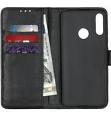 Basic Litchi Booktype voor de Motorola Moto E6 Plus - Zwart