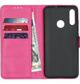 Basic Litchi Booktype voor de Motorola Moto E6 Plus - Roze