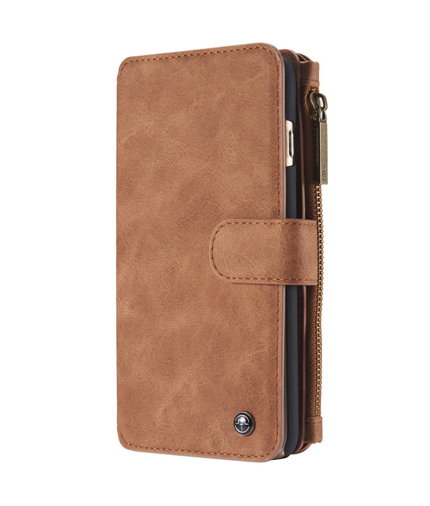 CaseMe Luxe 2 in 1 Portemonnee Booktype iPhone 6 / 6s - Bruin
