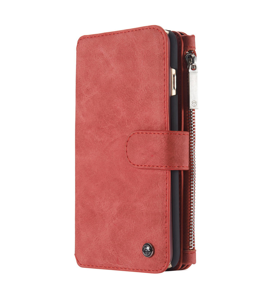 CaseMe Luxe 2 in 1 Portemonnee Booktype iPhone 6 / 6s - Rood