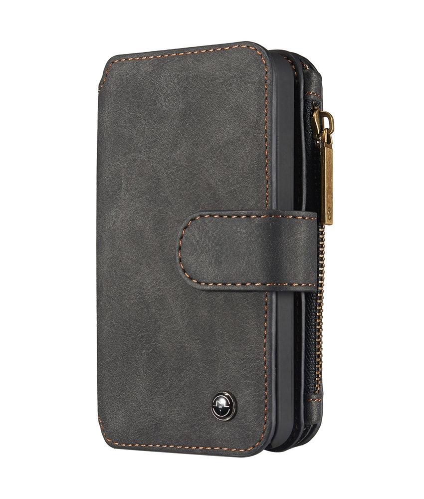 CaseMe Luxe 2 in 1 Portemonnee Booktype iPhone 5 / 5s / SE - Zwart