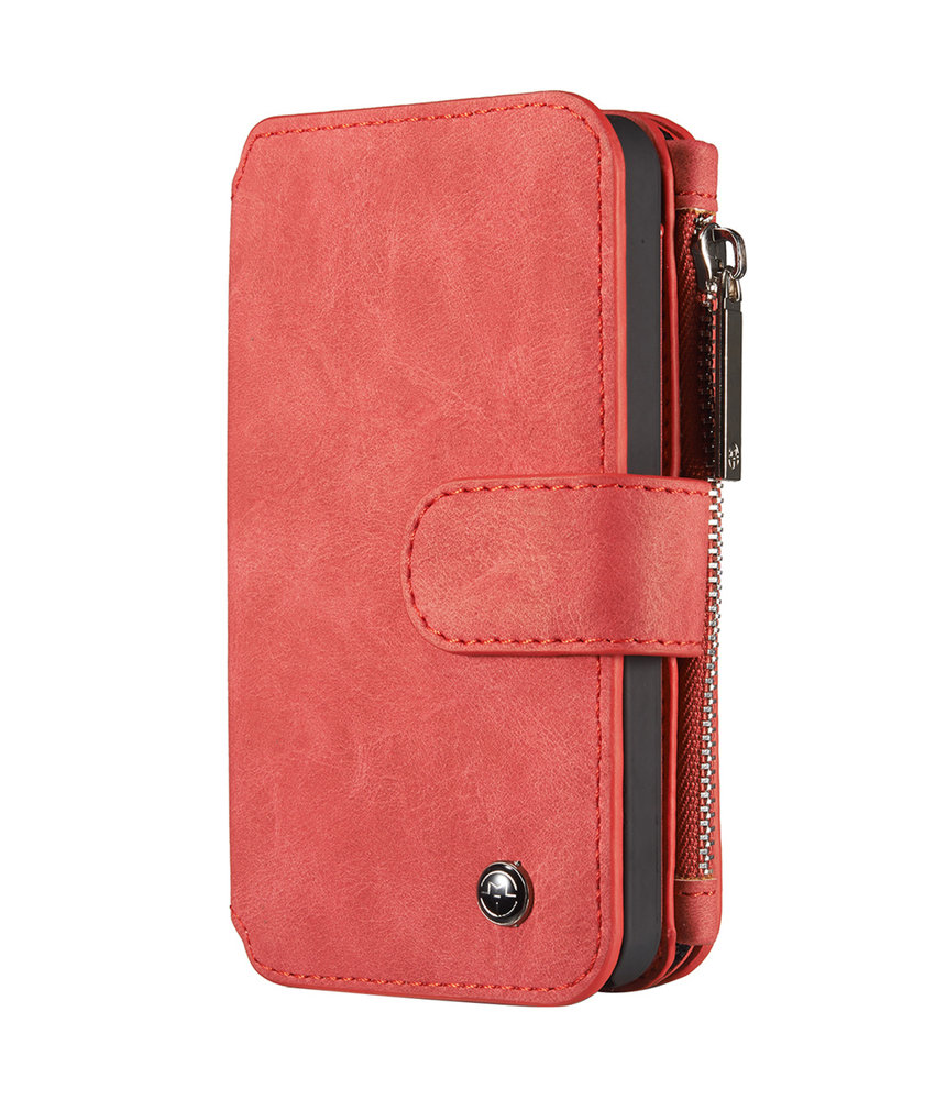 CaseMe Luxe 2 in 1 Portemonnee Booktype iPhone 5 / 5s / SE - Rood
