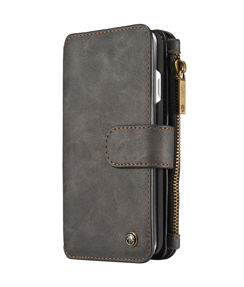 CaseMe Luxe 2 in 1 Portemonnee Booktype iPhone 8 / 7 - Zwart