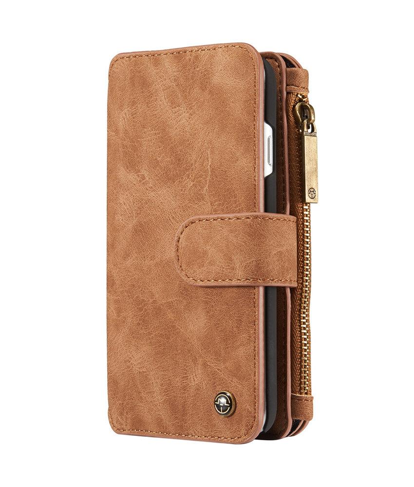CaseMe Luxe 2 in 1 Portemonnee Booktype iPhone 8 / 7 - Bruin