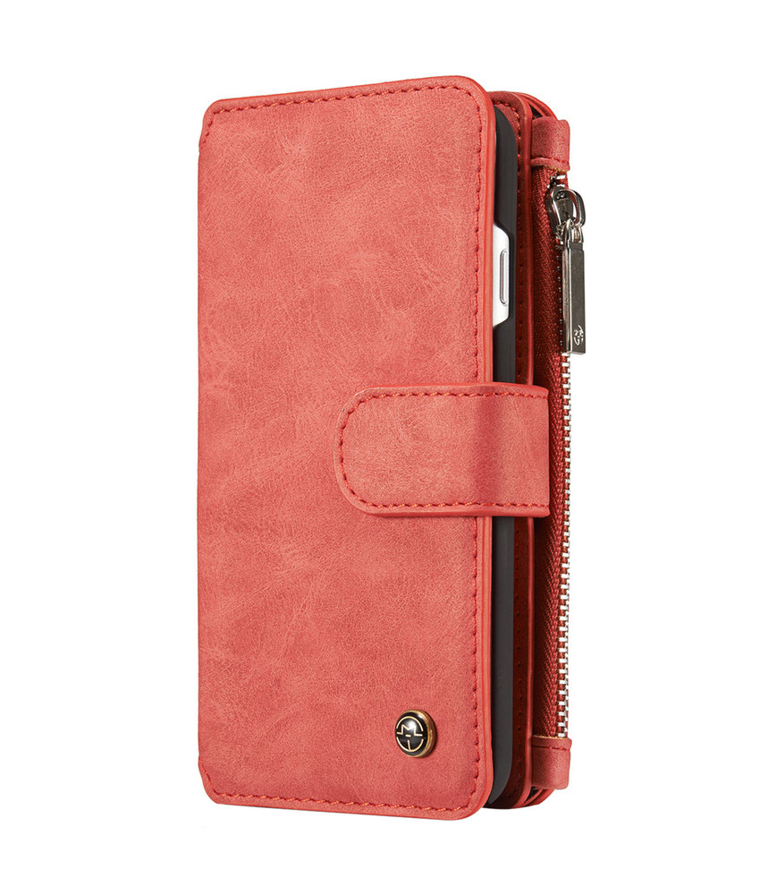 CaseMe Luxe 2 in 1 Portemonnee Booktype iPhone 8 / 7 - Rood