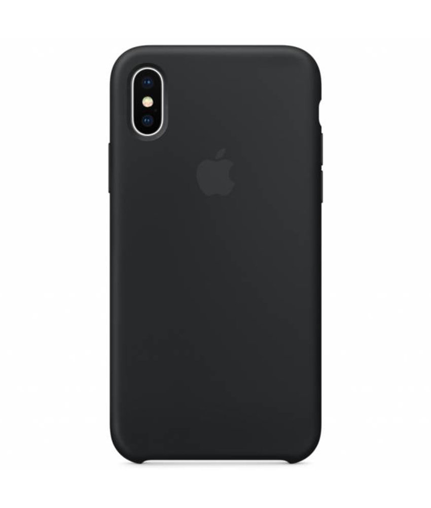 Apple Silicone Backcover iPhone X - Zwart