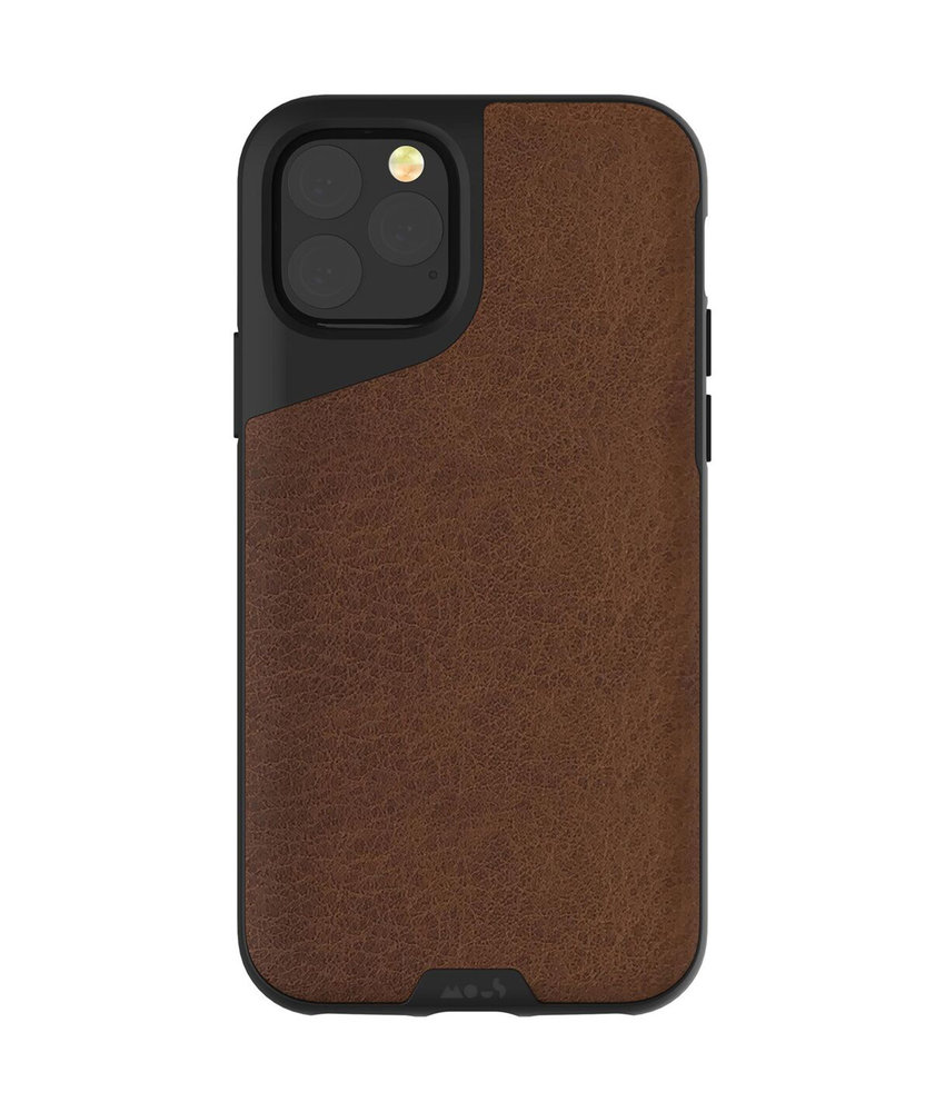 Mous Contour Backcover iPhone 11 Pro Max - Bruin