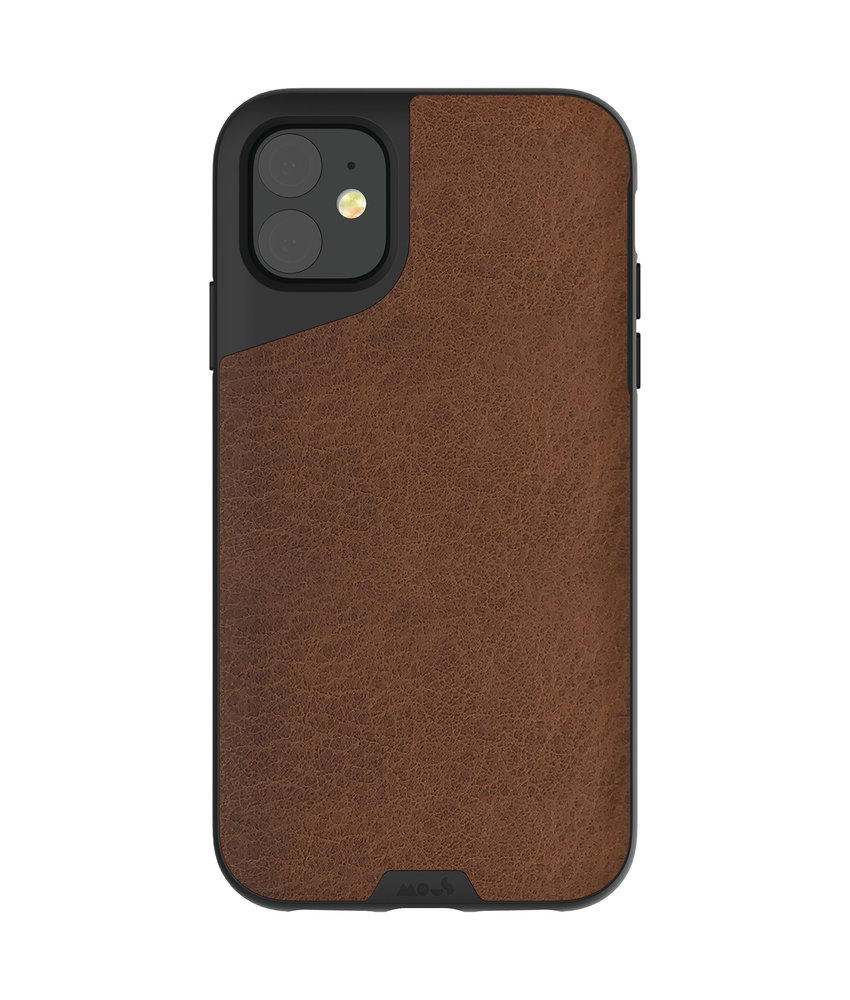 Mous Contour Backcover iPhone 11 - Bruin