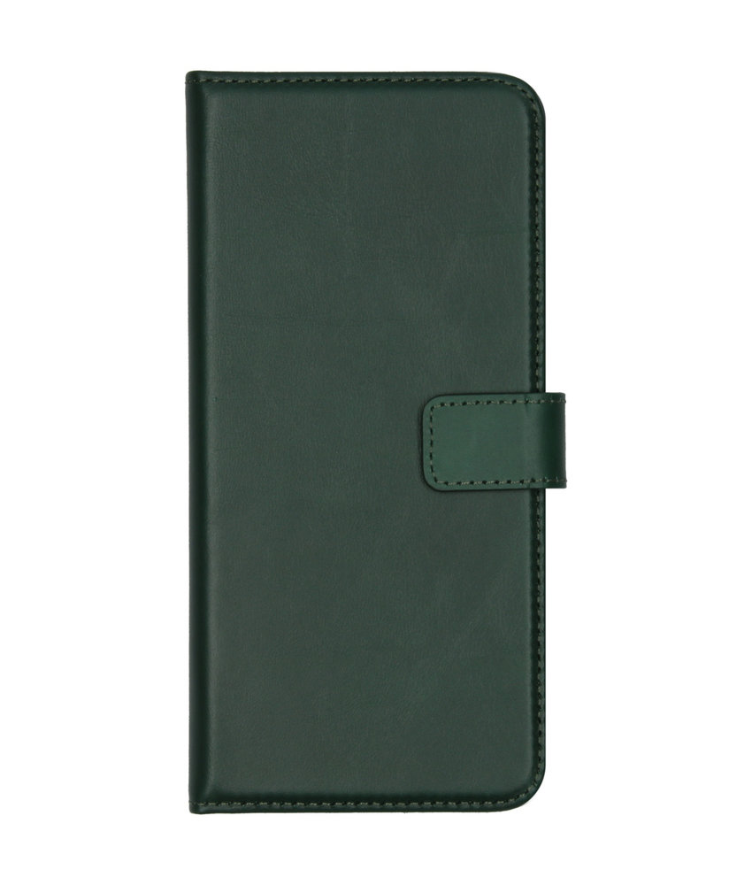 Selencia Echt Lederen Booktype Huawei Mate 30 - Groen