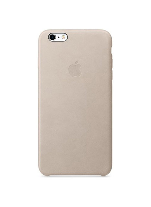 Apple Leather Backcover iPhone 6(s) Plus - Grijs