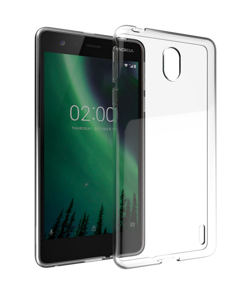 Accezz Clear Backcover Nokia 1 Plus - Transparant