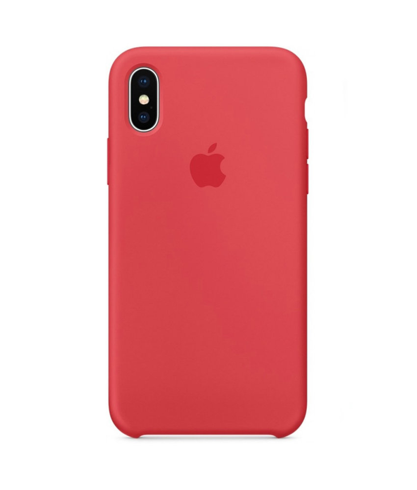 Apple Silicone Backcover iPhone X / Xs - Red Raspberry