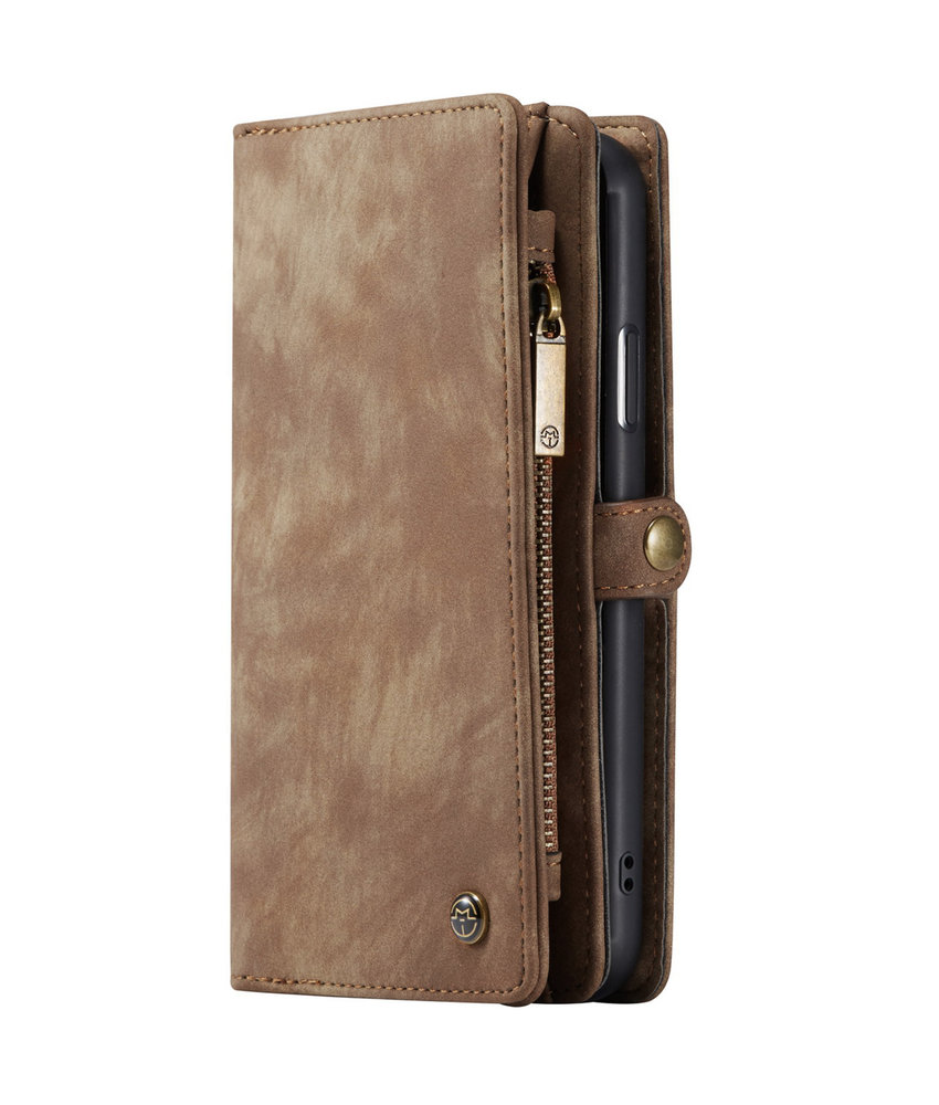 CaseMe Luxe Lederen 2 in 1 Portemonnee Booktype iPhone 11 - Bruin