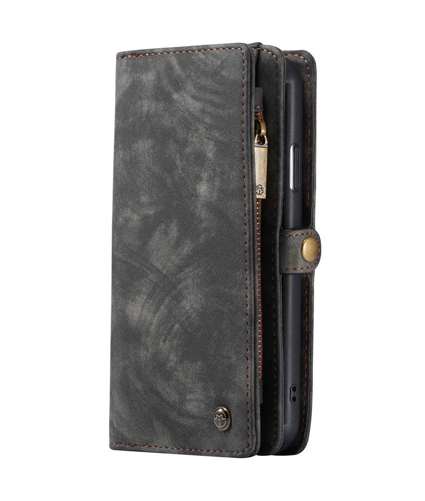 CaseMe Luxe Lederen 2 in 1 Portemonnee Booktype iPhone 11 - Zwart
