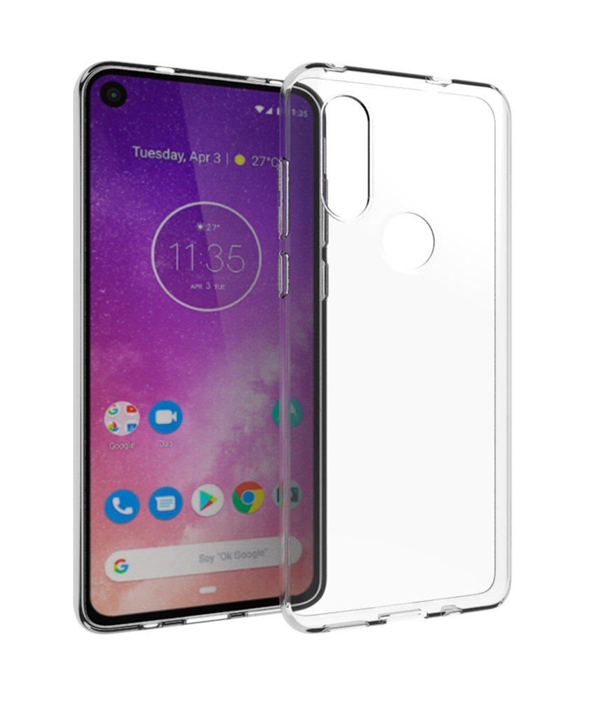 Accezz Clear Backcover Motorola One Vision - Transparant