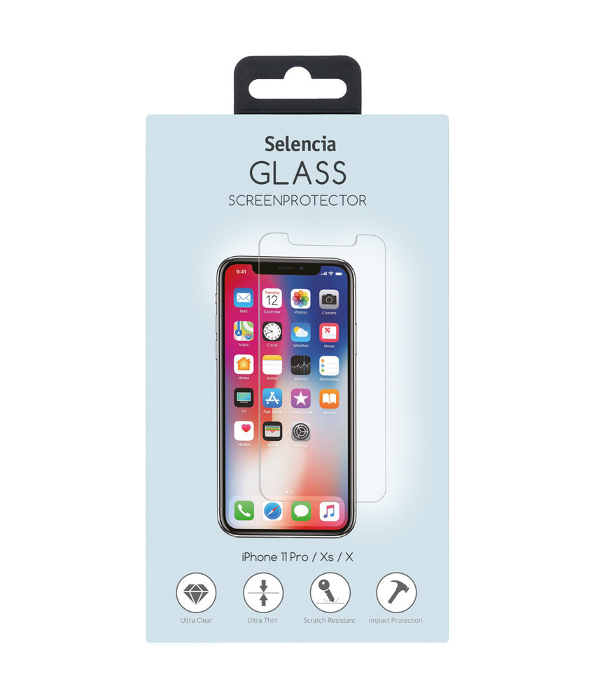 Selencia Gehard Glas Screenprotector iPhone 11 Pro / Xs / X