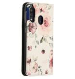 Design Softcase Booktype voor de Samsung Galaxy A40 - Bloemen