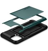Spigen Slim Armor CS Backcover voor de iPhone 11 Pro Max - Groen