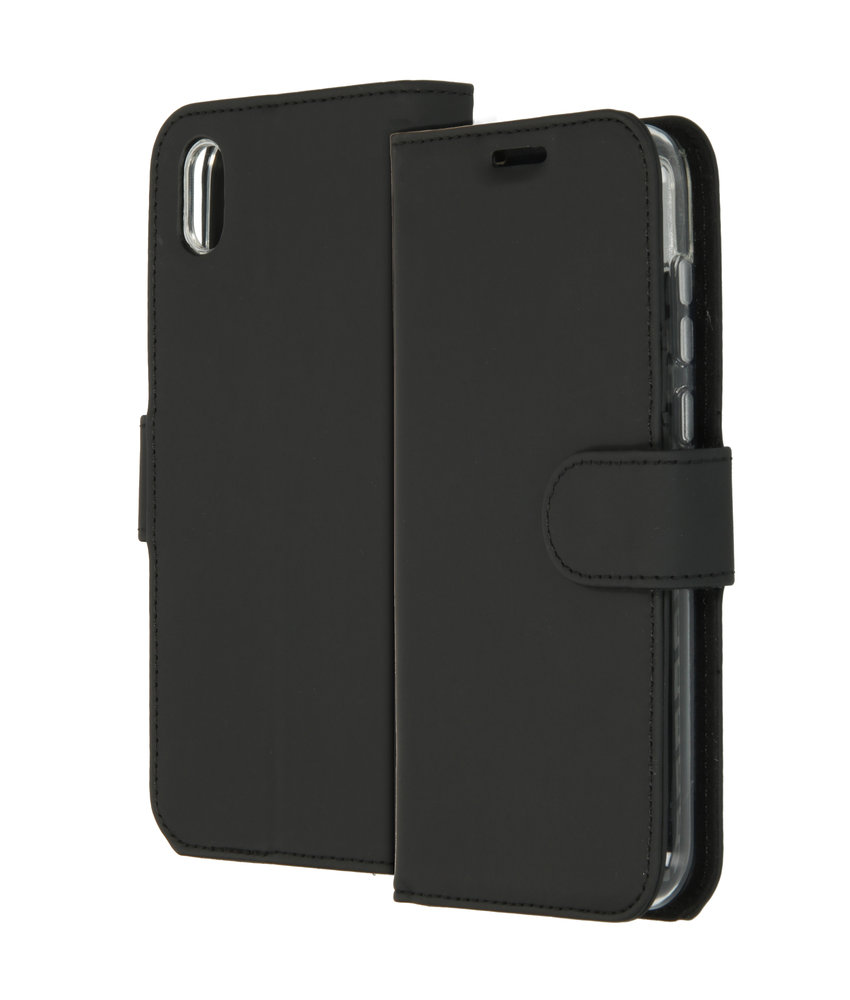 Accezz Wallet Softcase Booktype Huawei Y5 (2019) - Zwart