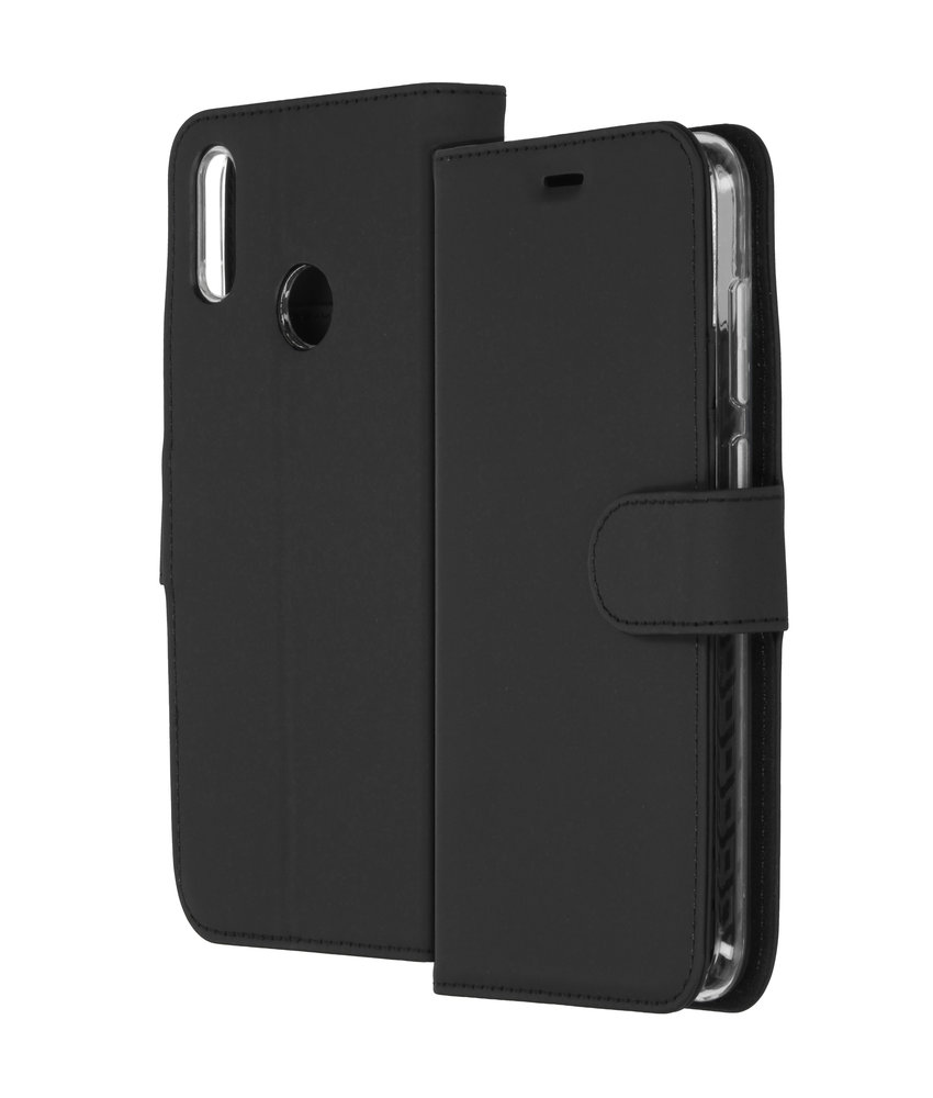 Accezz Wallet Softcase Booktype Huawei Y7 (2019) - Zwart