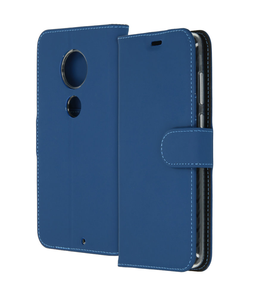 Accezz Wallet Softcase Booktype Moto G7 / G7 Plus - Donkerblauw