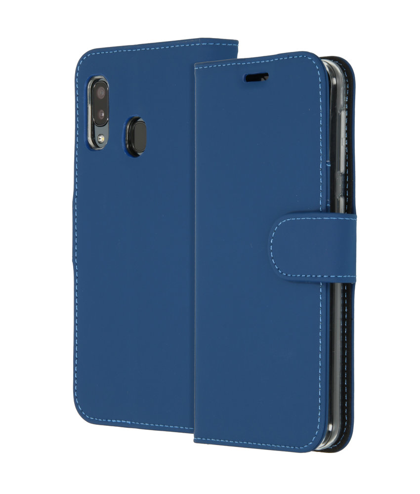 Accezz Wallet Softcase Booktype Samsung Galaxy A20e - Donkerblauw