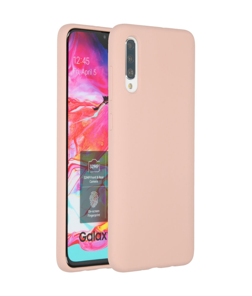 Accezz Liquid Silicone Backcover Samsung Galaxy A70 - Roze